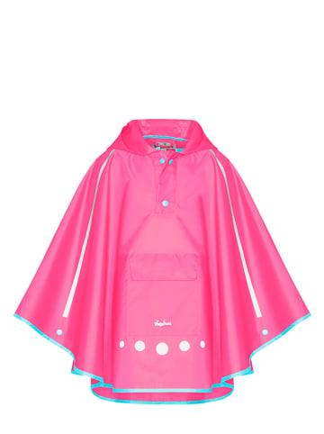 Playshoes Poncho przeciwdeszczowe w kolorze jaskraworóżowym