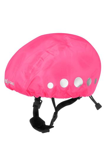 Playshoes Osłona przeciwdeszczowa w kolorze jaskraworóżowym na kask