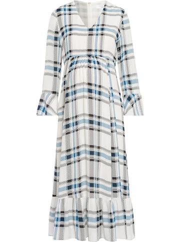 IVY & OAK Sukienka ciążowa w kolorze biało-niebieskim