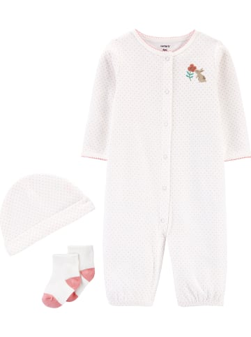 Carter's 3tlg. Outfit in Creme/ Rosa