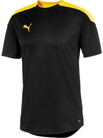"""Puma Koszulka sportowa """"ftblNXT"""" w kolorze żółto-czarnym"""