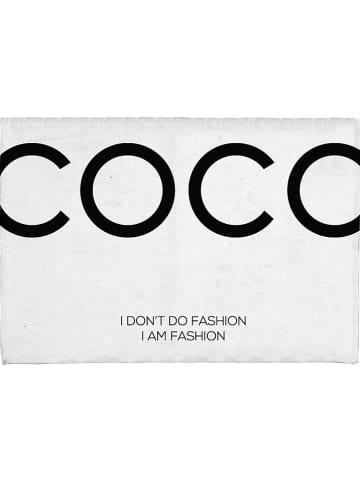 """Really Nice Things Badvorleger """"Coco Chanel"""" in Weiß/ Schwarz - (L)60 x (B)40 cm"""