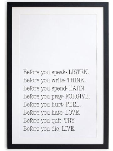 """Really Nice Things Druk artystyczny """"Before"""" w ramce - 30 x 40 cm"""