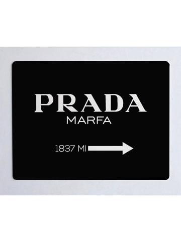 """Really Nice Things Podkładka """"Black Prada"""" w kolorze czarnym na biurko - 55 x 35 cm"""