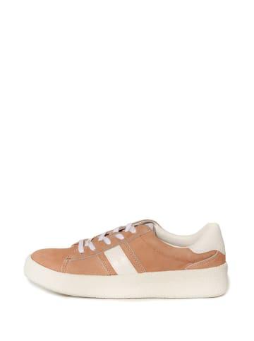 Calvin Klein Skórzane sneakersy w kolorze jasnoróżowym