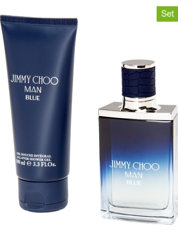 """Jimmy Choo 2-delige set """"Jimmy Choo Man Blue"""" - eau de toilette en douchegel"""