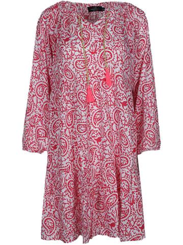 """Zwillingsherz Kleid """"Luna"""" in Pink/ Weiß"""