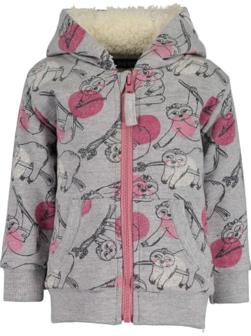 Blue Seven Sweatjacke in Grau/ Pink