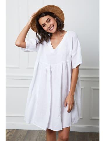 """Fleur de Lin Lniana sukienka """"Etsy"""" w kolorze białym"""