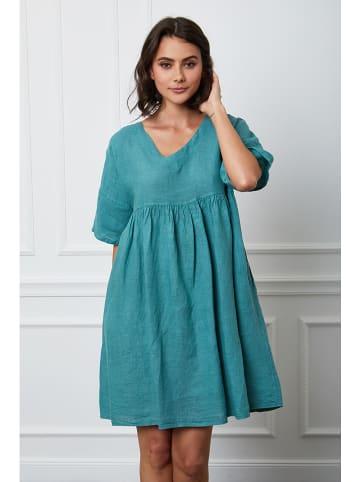 """Fleur de Lin Lniana sukienka """"Etsy"""" w kolorze turkusowym"""