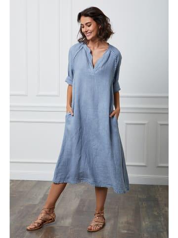 """Fleur de Lin Lniana sukienka """"Granel"""" w kolorze błękitnym"""