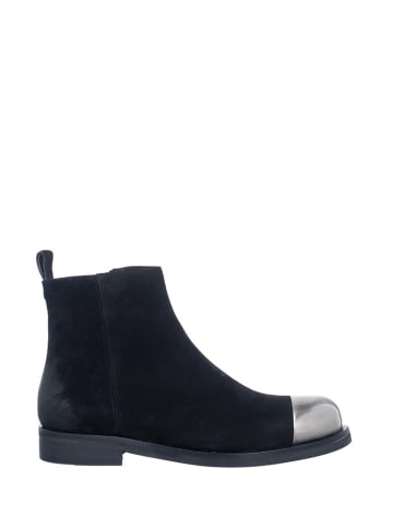 Manufacture D'Essai Leder-Ankle-Boots in Schwarz