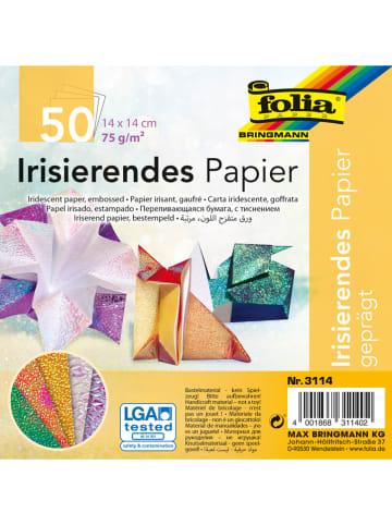 Folia Kolorowy papier iryzacyjny (50 szt.) - 14 x 14 cm