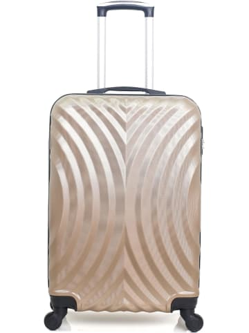 "Hero Hardcase-trolley ""Lagos-A"" beige - (B)36 x (H)60 x (D)26 cm"