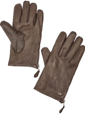Camel Active Leder-Handschuhe in Braun