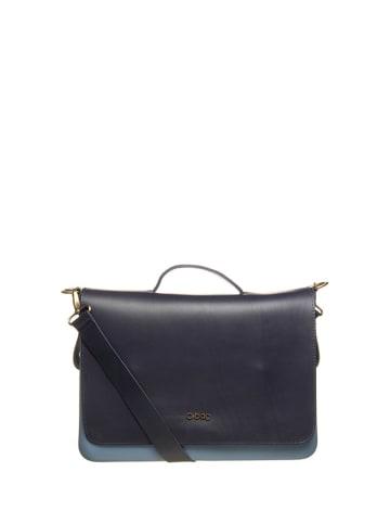 """O Bag Schoudertas """"O Folder"""" blauw/donkerblauw - (B)40 x (H)31 x (D)11 cm"""