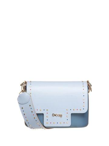 """O Bag Schoudertas """"O Pocket"""" lichtblauw/blauw - (B)19 x (H)13 x (D)6 cm"""