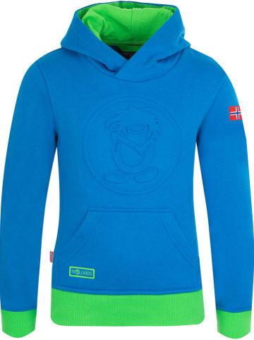 "Trollkids Sweatshirt ""Lillehammer"" blauw/groen"
