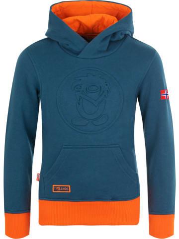 "Trollkids Sweatshirt ""Lillehammer"" donkerblauw/oranje"