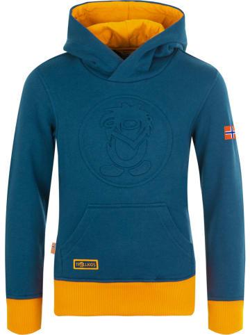 """Trollkids Bluza """"Lillehammer"""" w kolorze granatowo-żółtym"""