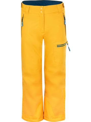 """Trollkids Spodnie narciarskie """"Hallingdal"""" w kolorze żółtym"""