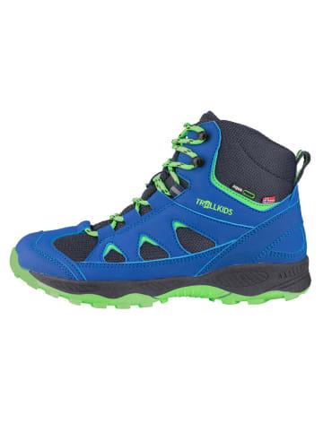 """Trollkids Buty trekkingowe """"Femund"""" w kolorze zielono-niebieskim"""