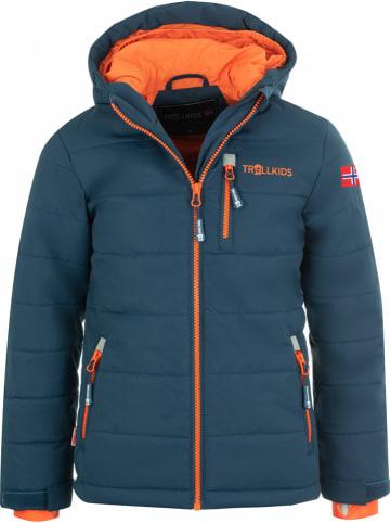 "Trollkids Ski-/snowboardjas ""Hemsedal XT"" donkerblauw/oranje"