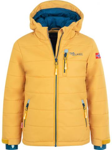 "Trollkids Ski-/snowboardjas ""Hemsedal XT"" geel/donkerblauw"