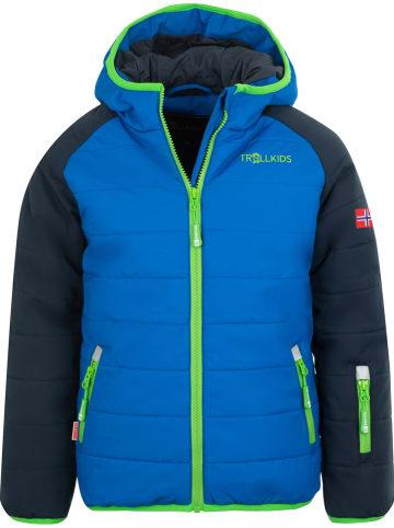 "Trollkids Ski-/ Snowboardjacke ""Hafjell PRO"" in Blau/ Dunkelblau"
