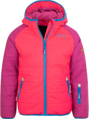 """Trollkids Kurtka narciarska """"Hafjell PRO"""" w kolorze fioletowo-różowym"""