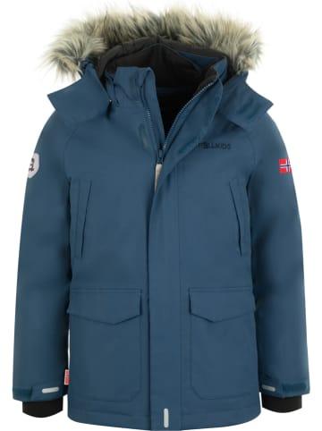 """Trollkids Płaszcz puchowy """"Spitsbergen"""" w kolorze niebieskim"""