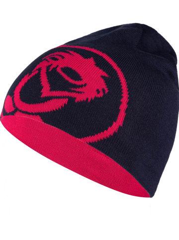 """Trollkids Dwustronna czapka beanie """"Trollfjord"""" w kolorze różowo-granatowym"""
