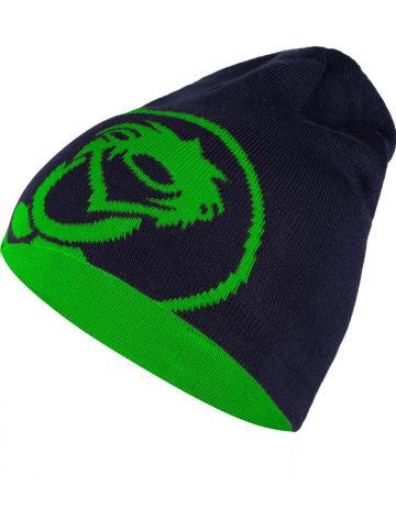 """Trollkids Dwustronna czapka beanie """"Trollfjord"""" w kolorze granatowym"""