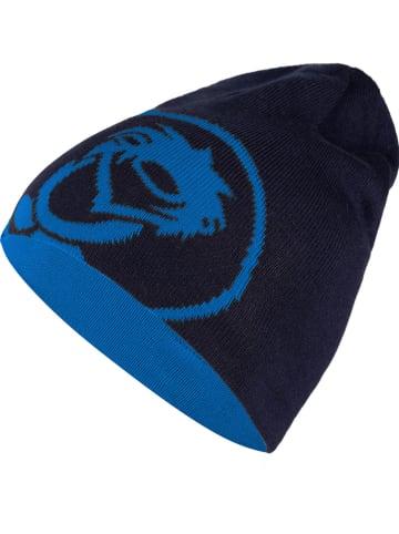 """Trollkids Dwustronna czapka beanie """"Trollfjord"""" w kolorze niebiesko-granatowym"""
