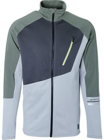 "Brunotti Fleece vest ""Mesite"" lichtblauw/groen"
