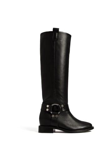 L37 Leren laarzen zwart