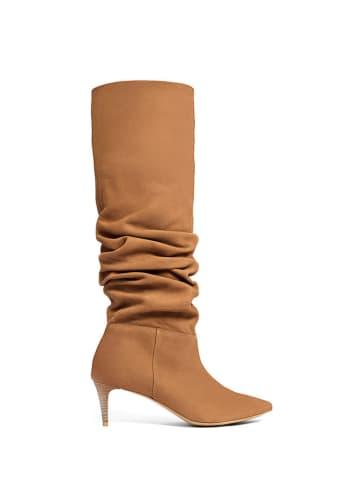 L37 Leren laarzen bruin