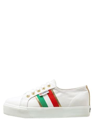 """Superga Sneakers """"Cotu Flagside"""" wit/rood/groen"""