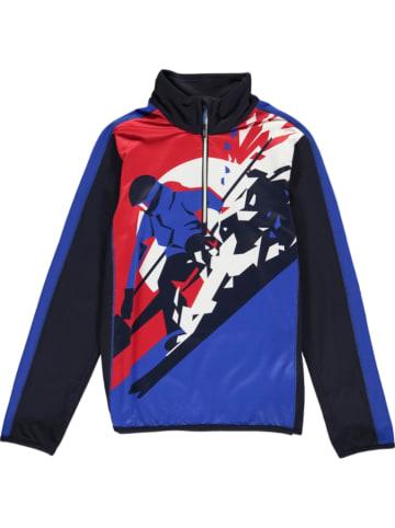 CMP Bluza w kolorze niebiesko-czerwonym