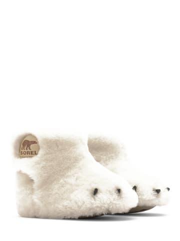 """Sorel Buty """"Bear Paw"""" w kolorze kremowym do nauki chodzenia"""