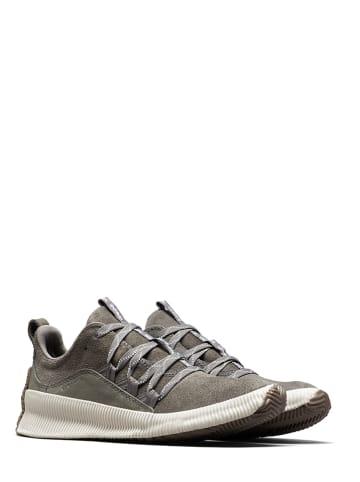 """Sorel Leder-Sneakers """"Out N About"""" in Grau"""