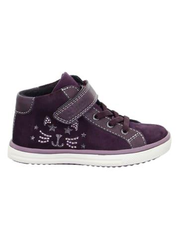 """Lurchi Leder-Sneakers """"Sienna-Tex"""" in Aubergine"""