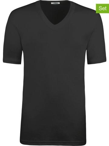 COTONELLA Koszulki (2 szt.) w kolorze czarnym