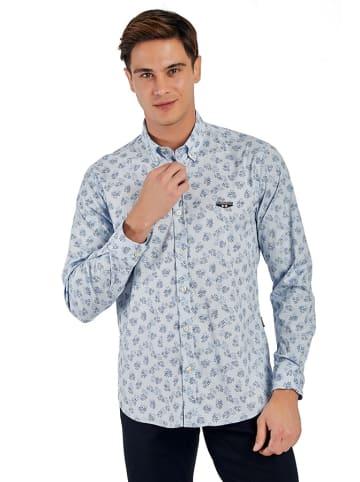 Galvanni Koszula w kolorze jasnoniebieskim ze wzorem