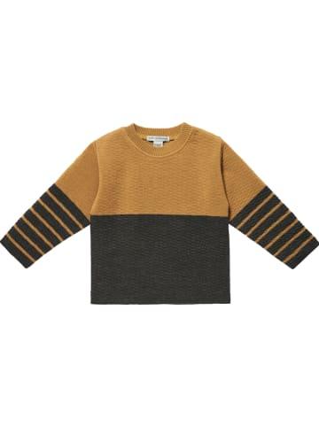 Mp Denmark Bluza w kolorze karmelowo-antracytowym