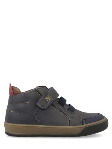 Garvalin Leren sneakers donkerblauw