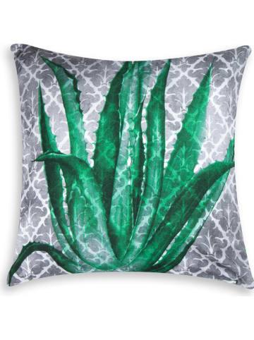 "Trendy Kitchen by EXCÉLSA Kussen ""Cactus"" groen/grijs - (L)45 x (B)45 cm"