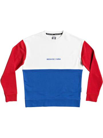 """DC Bluza """"Kirtland"""" w kolorze czerwono-biało-niebieskim"""