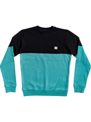 """DC Sweatshirt """"Rebel"""" in Türkis/ Schwarz"""