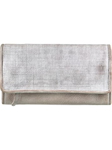 """BULL & HUNT Leren clutch """"Casual"""" zilverkleurig/grijs - (B)21 x (H)12 x (D)3 cm"""